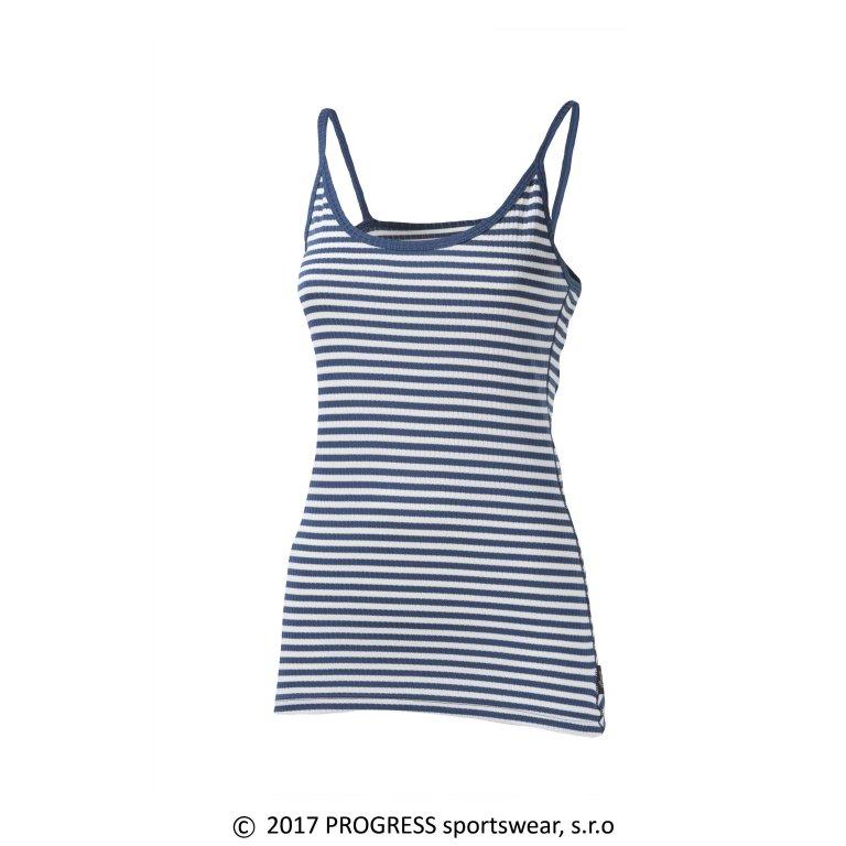 košilka dámská Progress MLs NKOZ proužek modrá