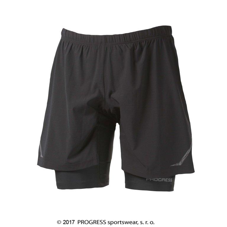 Kalhoty krátké pánské Progress RUNNER černé