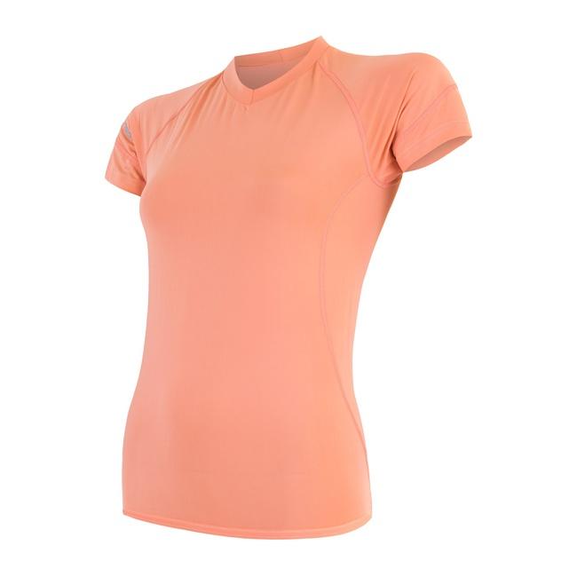 triko krátké dámské SENSOR COOLMAX FRESH meruňkové