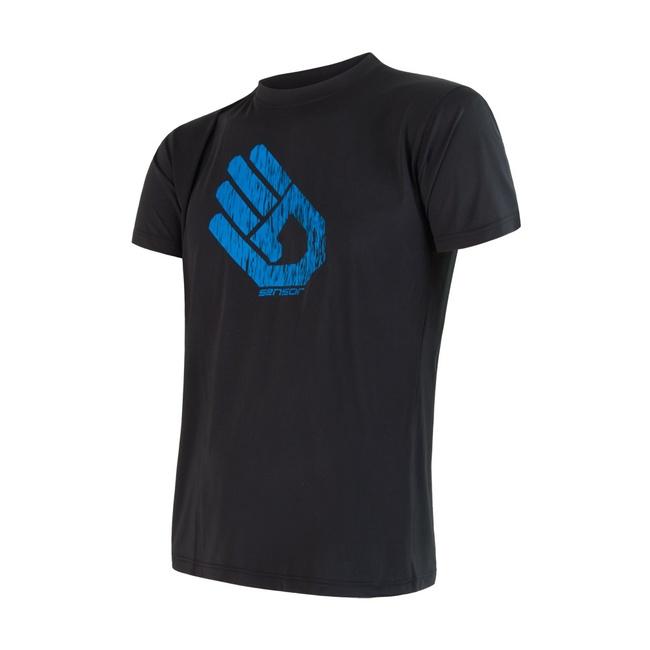 triko krátké pánské SENSOR COOLMAX FRESH PT HAND černé