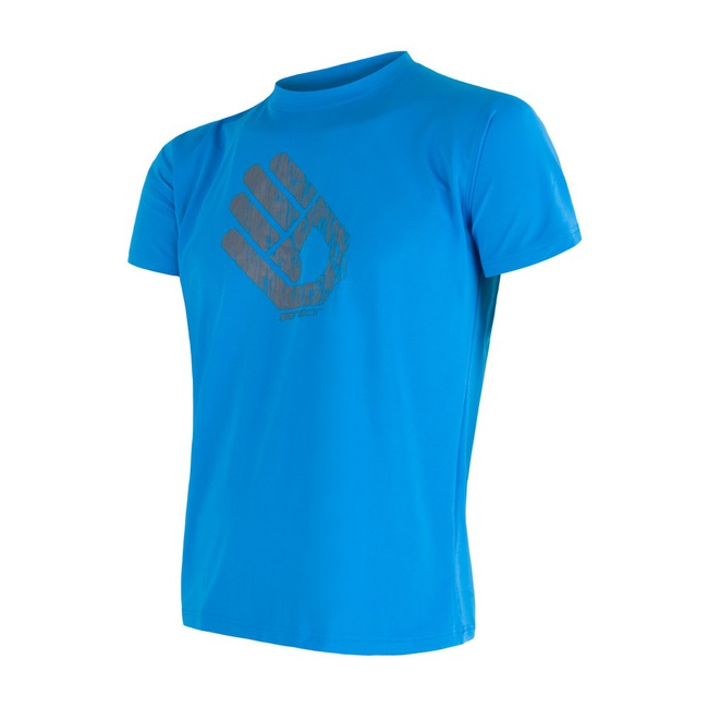 triko krátké pánské SENSOR COOLMAX FRESH PT HAND modré