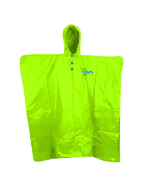 pláštěnka HAVEN RAINCOAT Poncho neon zelená