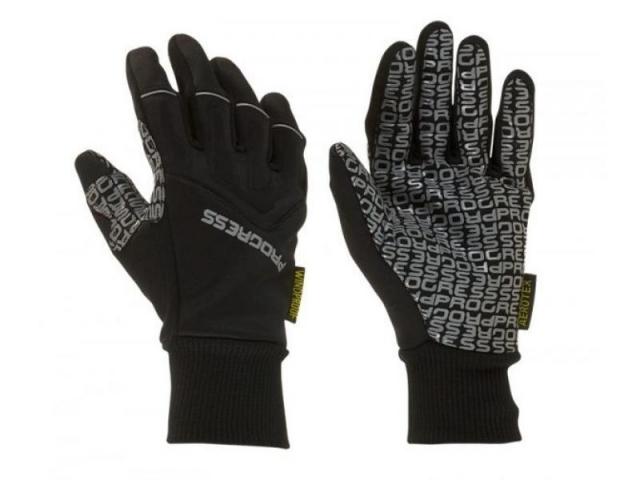rukavice Progress SNOWRIDE GLOVES zimní černé