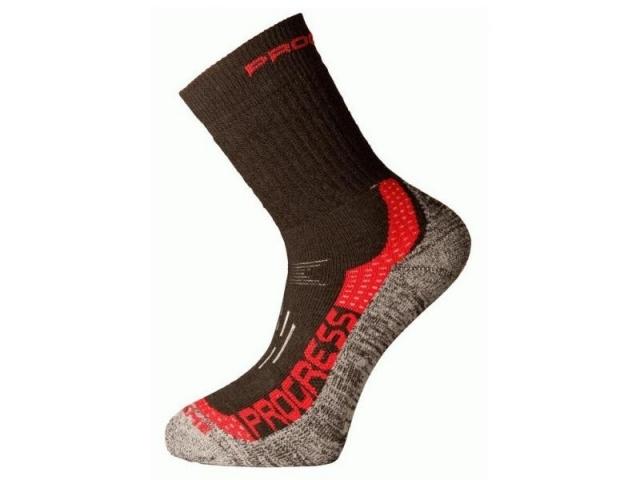 ponožky Progress X-TREME černo/červené vel. 9-12