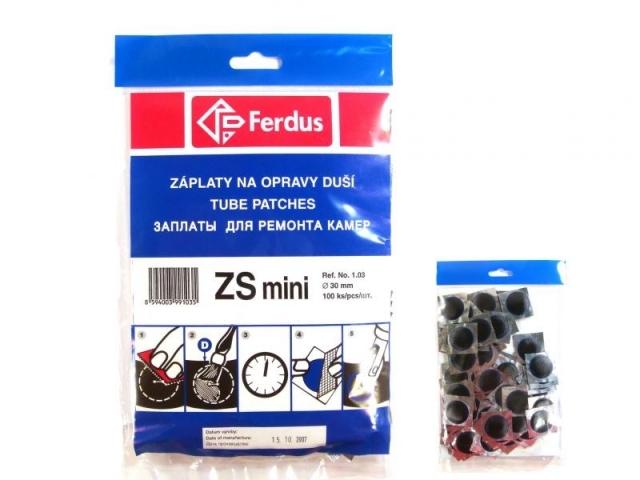 záplaty Ferdus ZS mini 30 100ks/2.15/ks