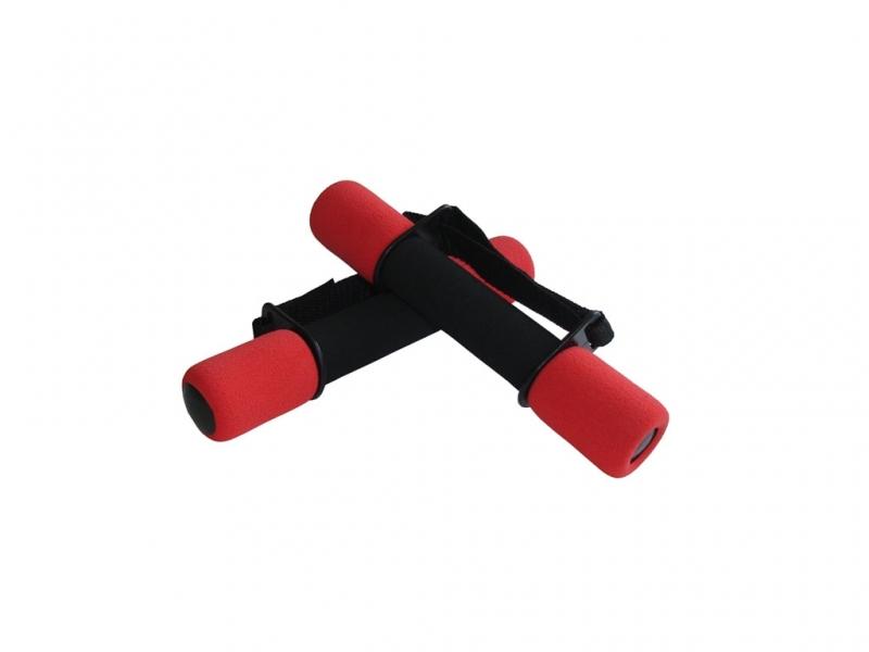 činky aerobic molitanové 2x0,5kg červené