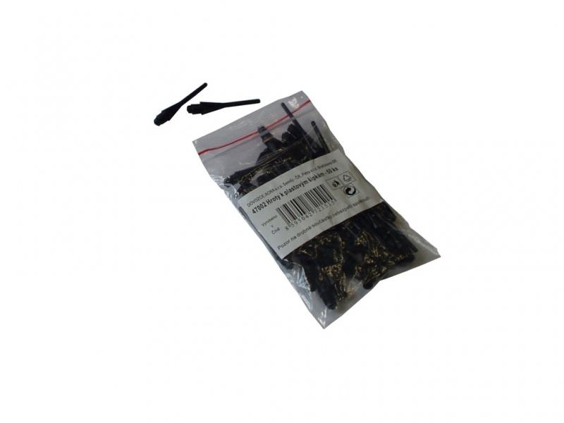 šipky-hroty plastové 4mm 50ks