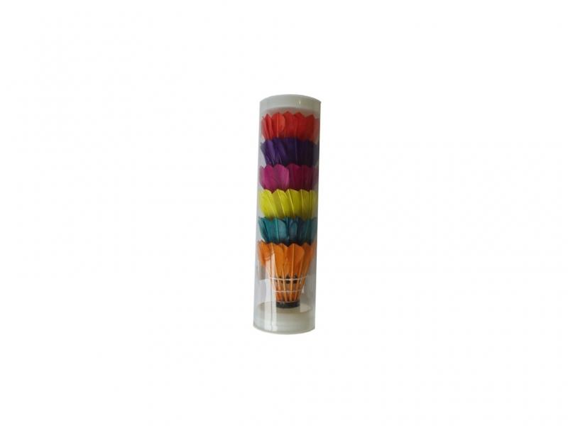 košíčky badminton peří 6ks barevné