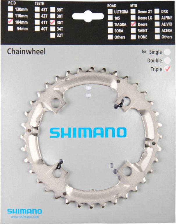 převodník 36z Shimano Deore FC-M532 3x9 4 díry