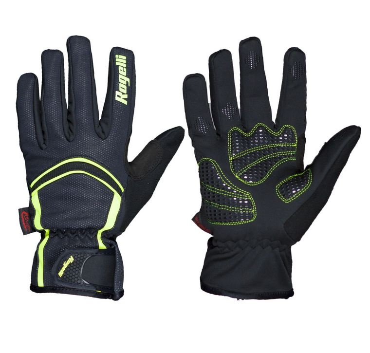 rukavice Rogelli WHITBY zimní membránové černo/fluoritové