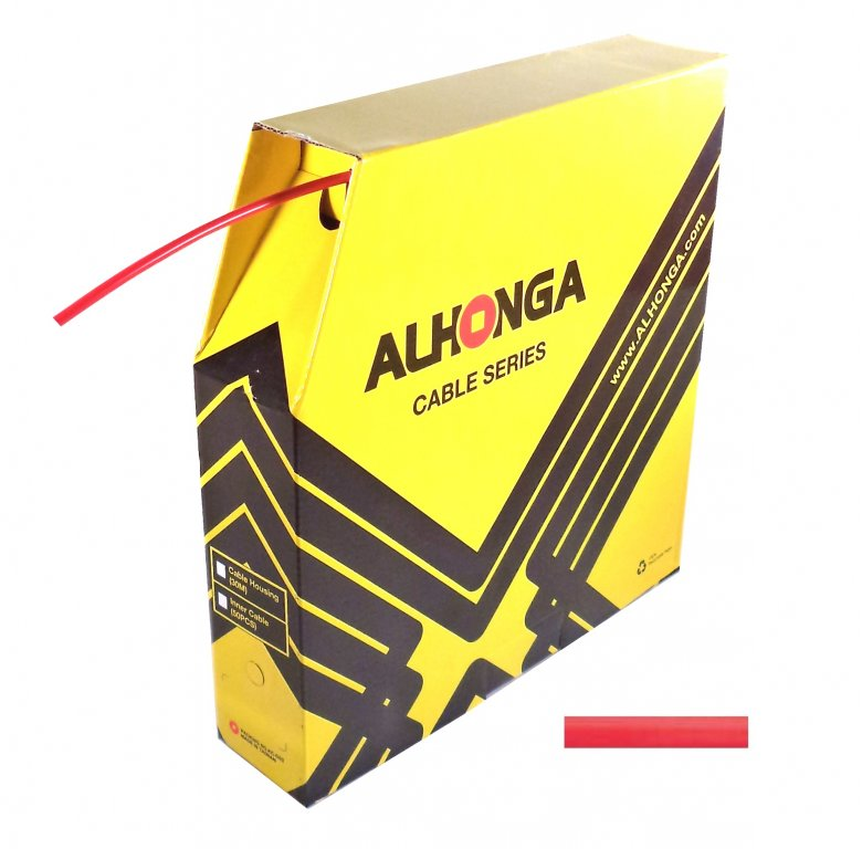 bowden brzdový 5mm 2P Alhonga 30m červený box