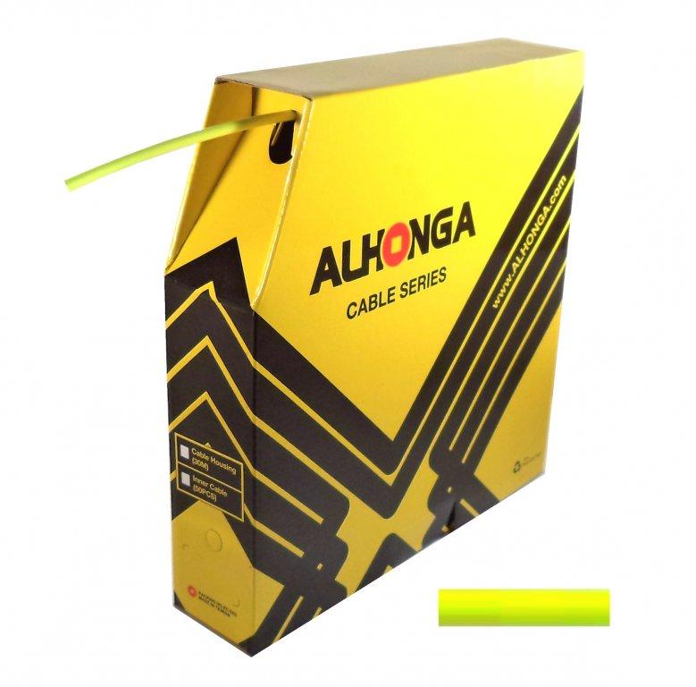 bowden brzdový 5mm 2P Alhonga 30m reflexní žlutý box