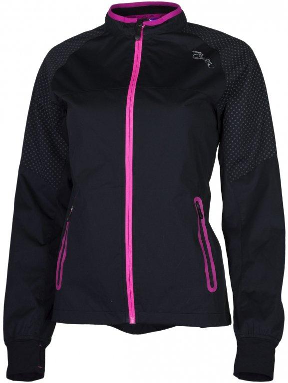 bunda dámská Rogelli STERNE softshell větrovka černo/růžová