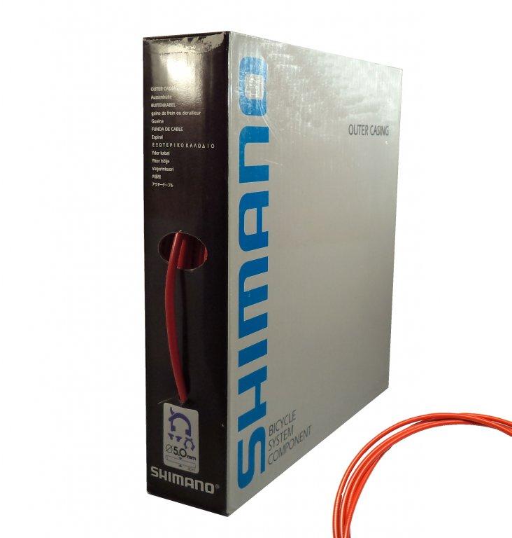 bowden brzdový Shimano 5mm 30m červený box