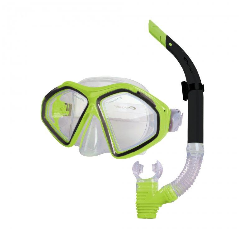 brýle+šnorchl Spokey KRAKEN II limetkové