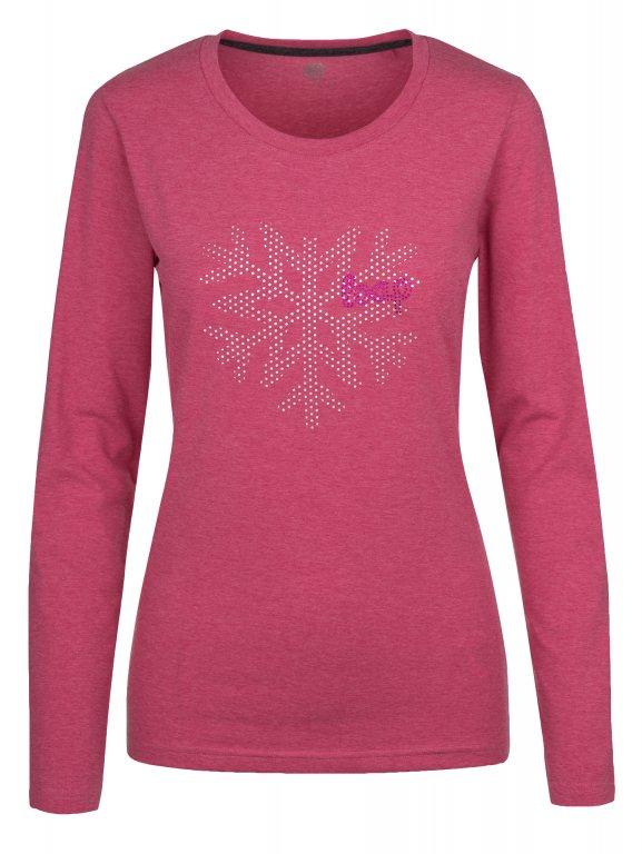 triko dlouhé dámské LOAP BOSKA růžové