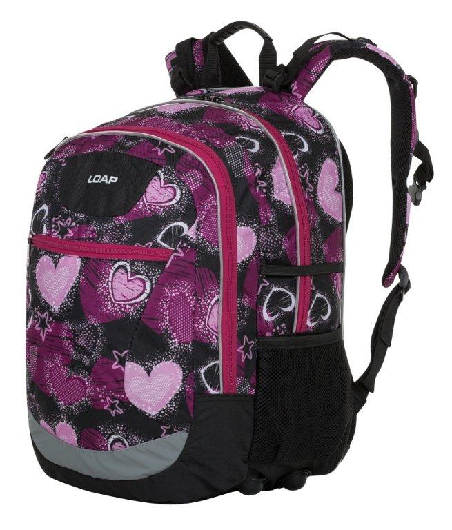 batoh daypack LOAP ELLIPSE černo/růžový