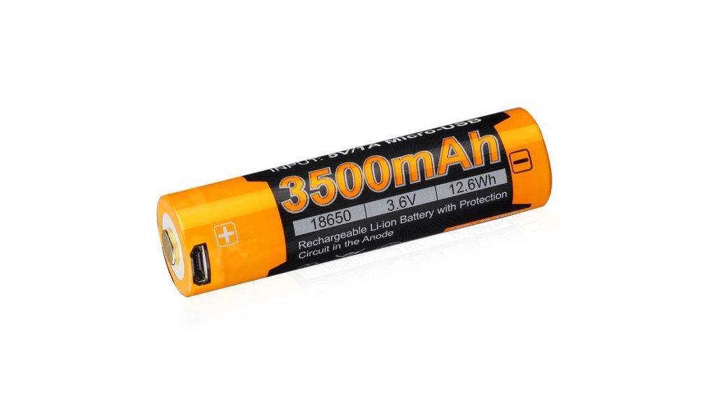 baterie 18650 Fenix USB (Li-Ion) 3500mAh