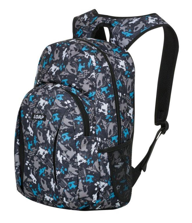 batoh daypack LOAP ASSO černo/modrý