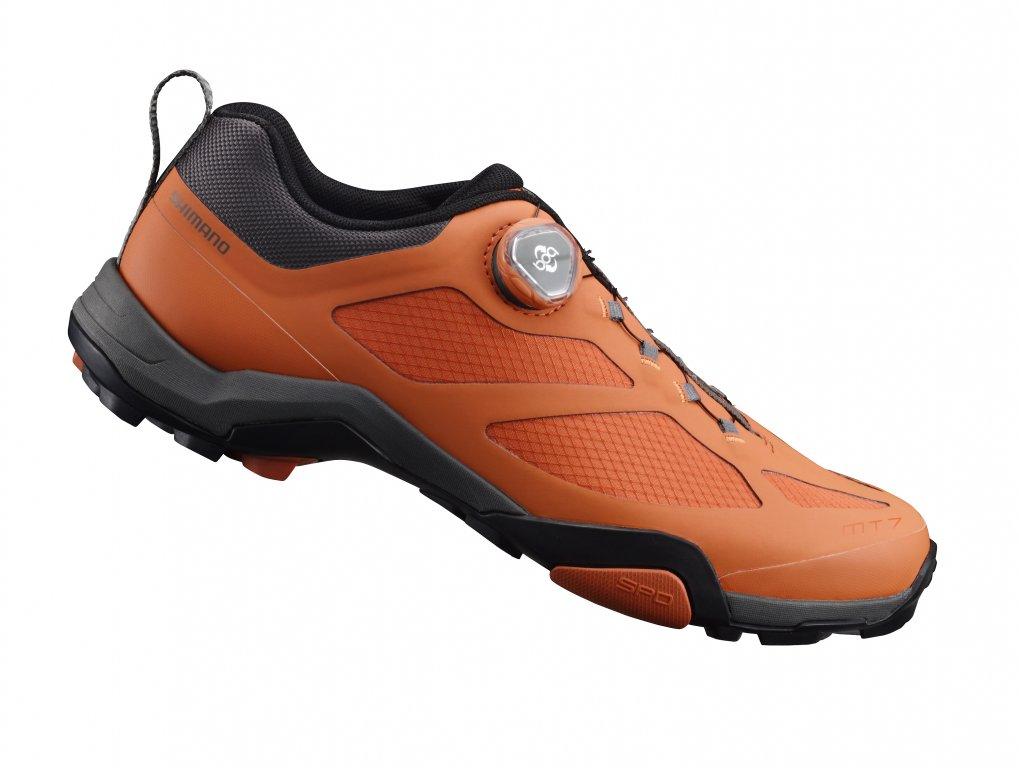 boty Shimano MT7 oranžové