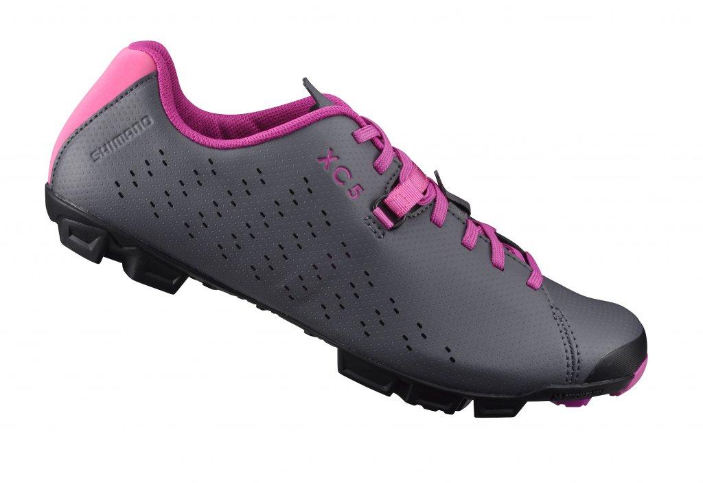 boty Shimano XC5 šedo-růžové