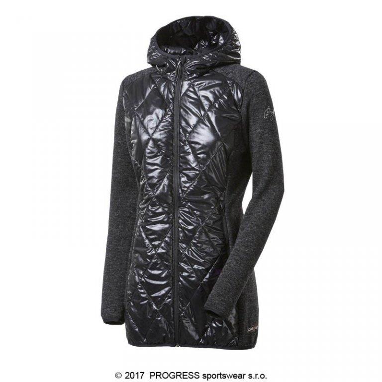 kabátek dámský Progress SILVRETTA WOOL černý