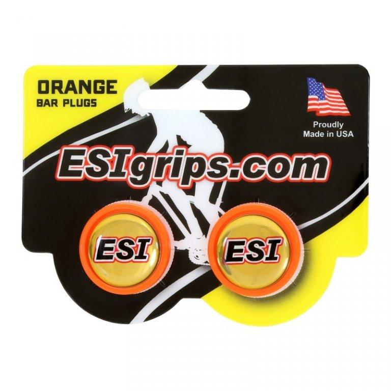 zátky řidítek ESI oranžové