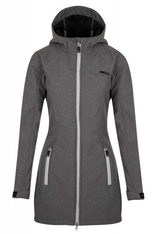 kabát dámský LOAP LAPALUPE softshell šedý
