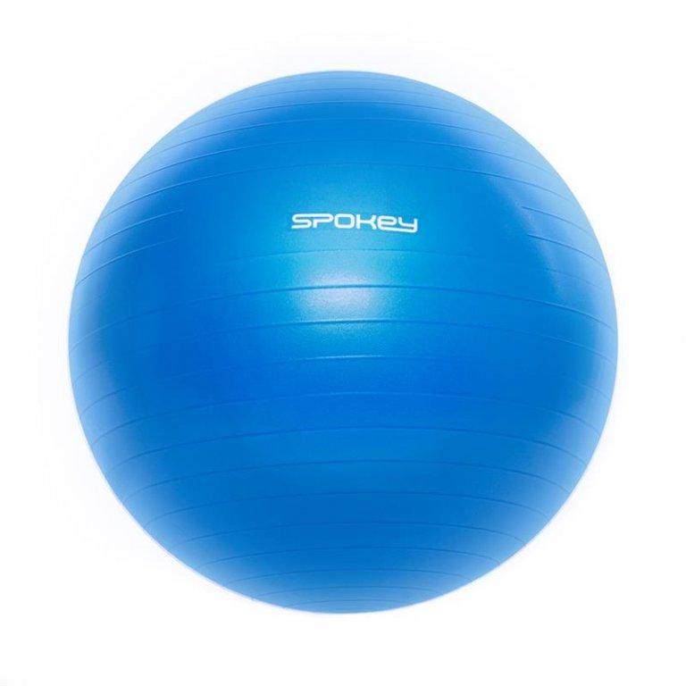 míč gymnastický Spokey FITBALL III 55cm modrý s pumpičkou