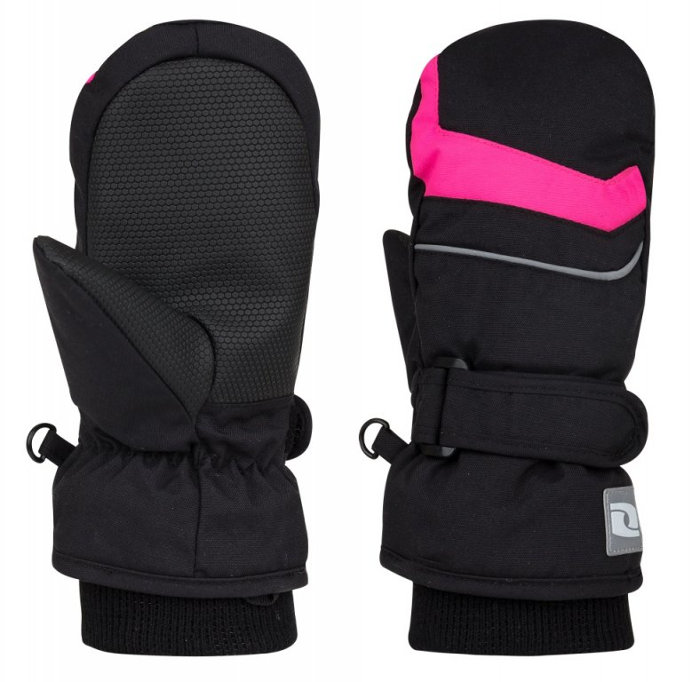 rukavice dětské LOAP NICONOS palčáky černo/růžové