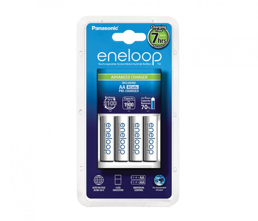 nabíječka Panasonic BQ-CC17 + 4xAA Eneloop