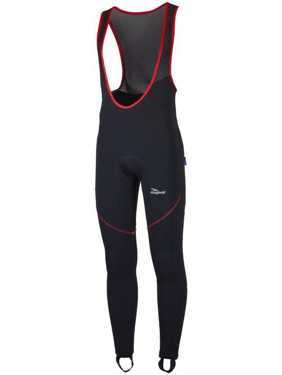 kalhoty dlouhé pánské Rogelli MANZANO 2.0 zateplené černo/červené