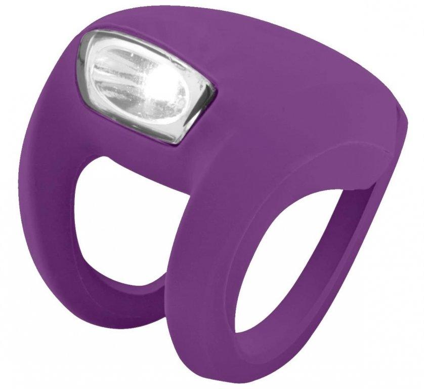 blikačka přední Knog Frog Strobe fialová