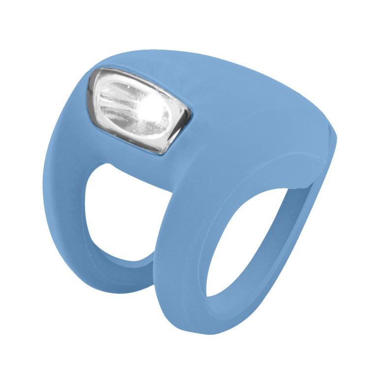 blikačka přední Knog Frog Strobe světle modrá