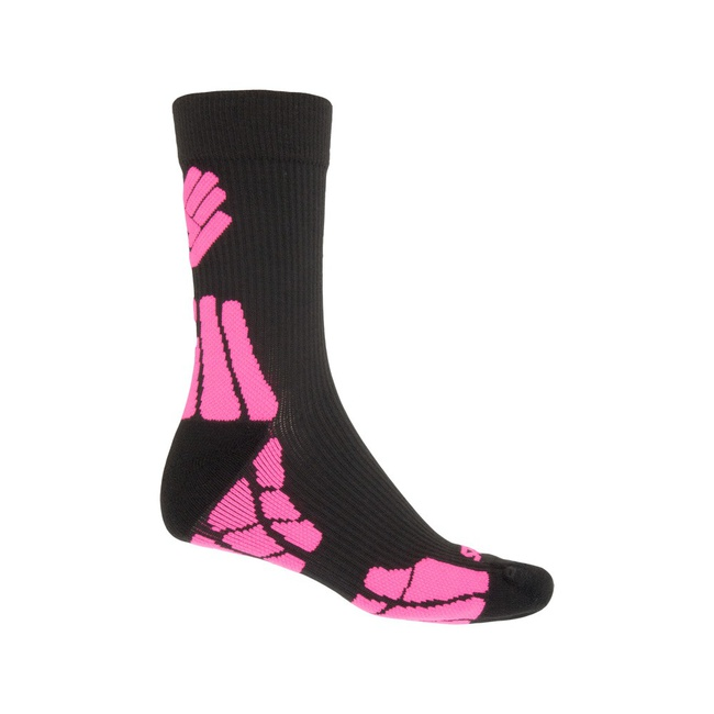 ponožky SENSOR HIKING MERINO černo/růžové