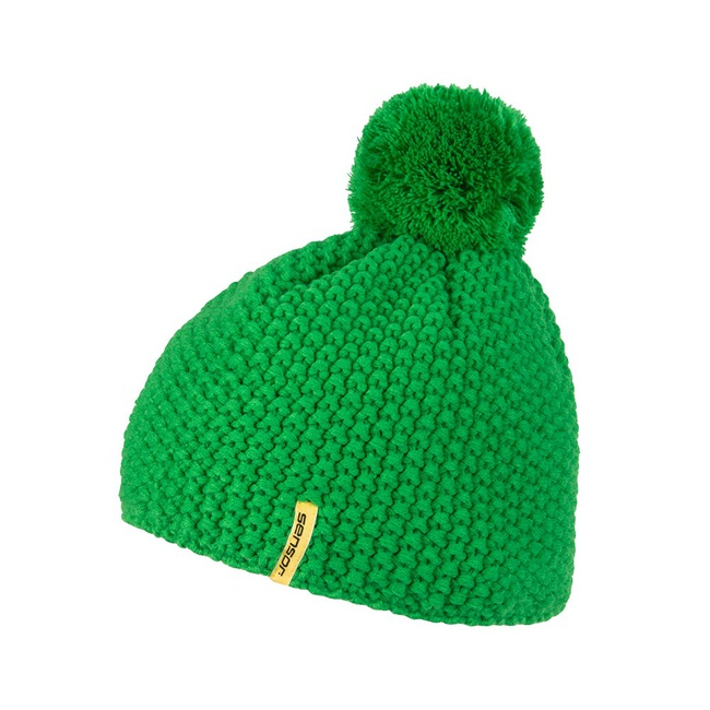 čepice SENSOR POM-POM zelená