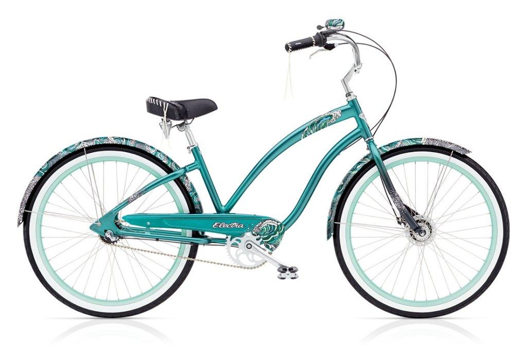 kolo dámské ELECTRA Cruiser Fashion-White Water 3i modré
