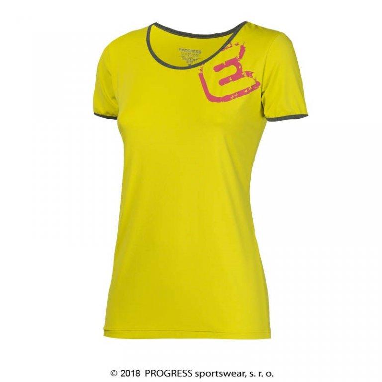 Triko krátké dámské Progress IMOLA žluté