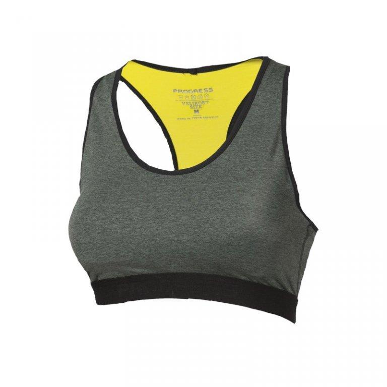 podprsenka Progress CAVALLINA khaki/žlutá