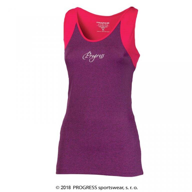 Tílko dámské Progress MALAGA fialovo/růžové