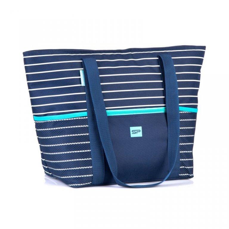 taška plážová Spokey LEVANTE termo modrá