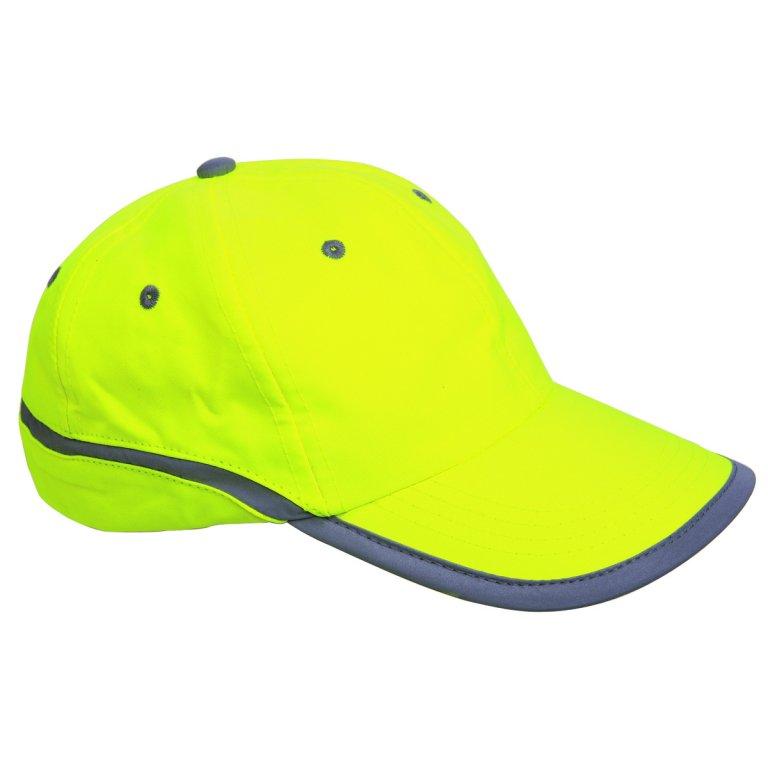 čepice s reflexním pruhem žlutá