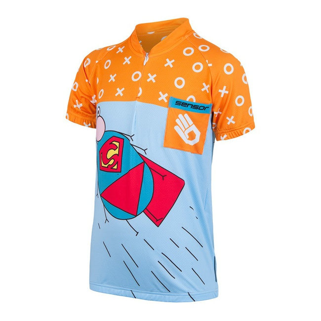 dres krátký dětské SENSOR ZUPAMAN modro/oranžový