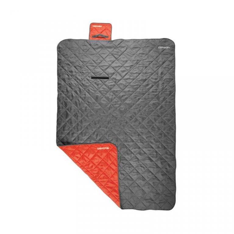 pikniková deka 200x140 CANYON kempingová šedo/červená