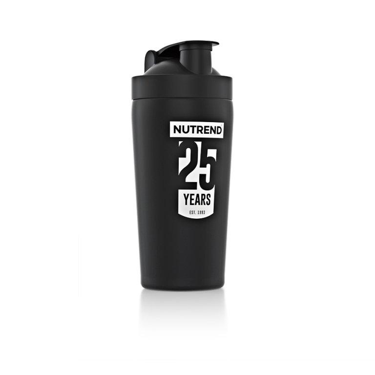 šejkr Nutrend 780ml kovový černý