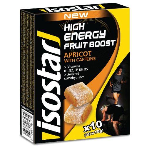 želé ISOSTAR HIGH ENERGY FRUIT BOOST meruňka 100g