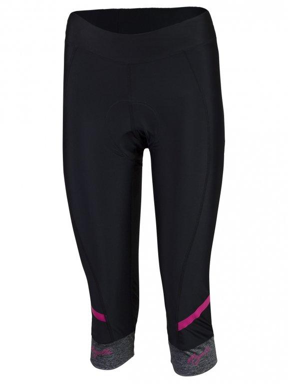 kalhoty 3/4 dámské Rogelli CAROU 2.0 černo/růžové
