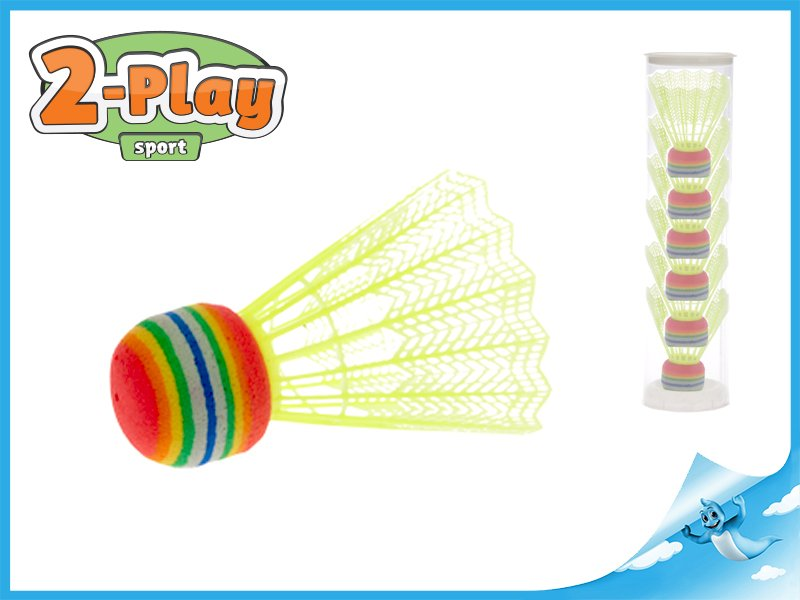 košíčky badminton 6ks žluté