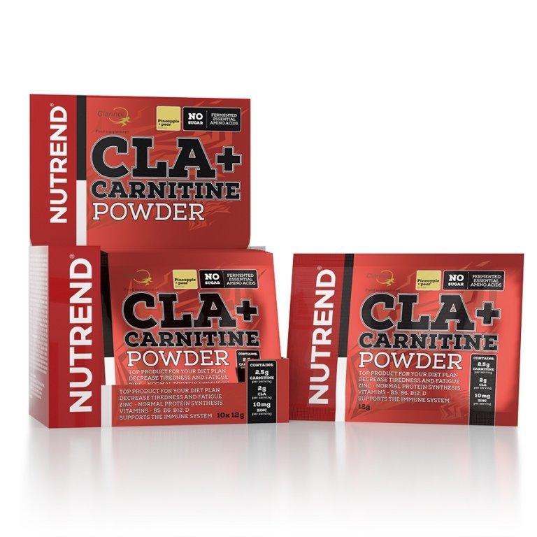 nápoj Nutrend CLA+CARNITINE POWDER 10x12g ananas+hruška