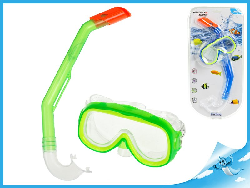 brýle+šnorchl polykarbonátová skla 3-6let
